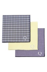 Cathy's Concepts Set Of 3 Monogram Pocket Squares Yellow