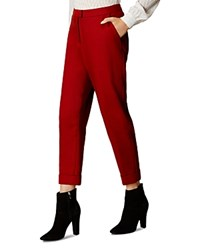 Karen Millen Cropped Pants Tan