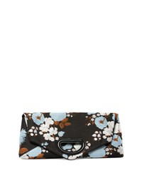 Dries Van Noten Brocade Envelope Clutch Bag Light Blue