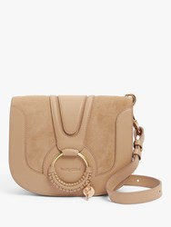See By Chloe Small Hana Suede Leather Satchel Bag Coconut Brown