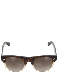 Gucci Two Tone Rounded Acetate Sunglasses Brown