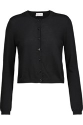 Red Valentino Redvalentino Cashmere And Silk Blend Cardigan Black