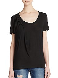 Splendid Draped T Shirt Black