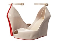 Melissa Shoes Patchuli Beige Red Women's Wedge Shoes Neutral