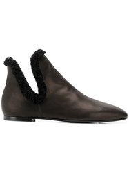 The Row Eros Ankle Boots Black