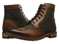 Ted Baker Sealls 3 Tan Brown Wool Men's Lace Up Boots