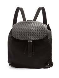 Bottega Veneta Canvas And Leather Backpack Black