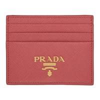 Prada Pink Logo Card Holder
