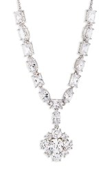 Nina Women's Cluster Pendant Necklace Silver