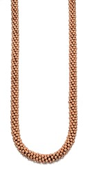 Fiorelli Costume Rose Gold Plate Chunky Bead Necklace