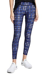 Terez Tall Band Leggings Dogs Tooth