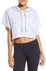 Free People Women's 'Lost And Found' Crop Top Grey