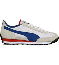 Puma Easy Rider Suede And Nylon Trainers White Red Blue