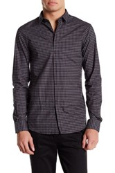 Eleven Paris Elon Long Sleeve Regular Fit Checkered Shirt Black