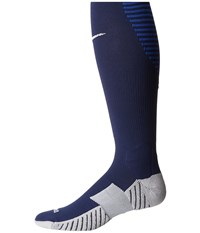 Nike Matchfit Over The Calf Team Socks Midnight Navy Game Royal White Knee High Socks Shoes Blue