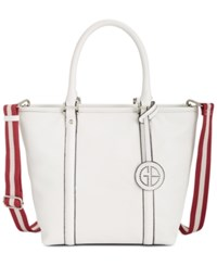 Giani Bernini Web Strap Tote Only At Macy's White
