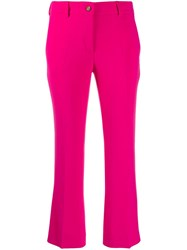 Alberto Biani Cropped Flared Trousers Pink