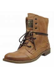 Mustang Laceup Boots Hellbraun Brown
