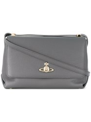 Vivienne Westwood Large Balmoral Shoulder Bag Grey
