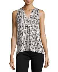 Soft Joie Lysette Printed Sleeveless Top Women's Size L Black