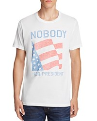 Junk Food Nobody For President Tee Elecwhte