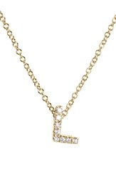 Bony Levy Women's Pave Diamond Initial Pendant Necklace Nordstrom Exclusive Yellow Gold L