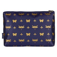 John Lewis Discover Toilettries Holdall Navy And Gold
