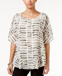 Alfani Printed Poncho Blouse Only At Macy's Watercolor