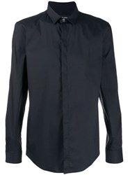 Emporio Armani Cotton Blend Shirt Blue