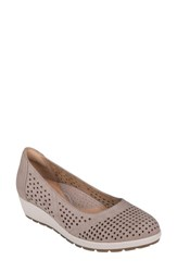 Earth 'S Violet Wedge Taupe Nubuck