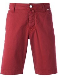 Jacob Cohen Classic Chino Shorts Red