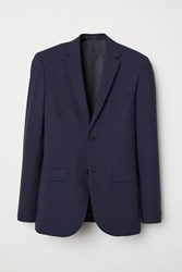 Handm Wool Blazer Slim Fit Blue