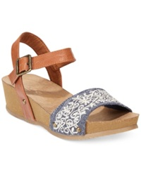 Rocket Dog Griffith Two Piece Footbed Wedge Sandals Women's Shoes