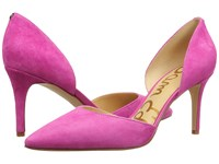 Sam Edelman Telsa Hot Pink Kid Suede Leather Women's Shoes