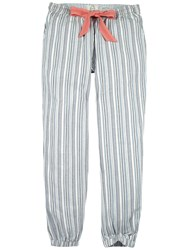 Fat Face Variagated Stripe Cuffed Lounge Trousers Chambray