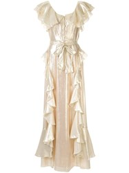 Alice Mccall Astral Plane Gown Gold