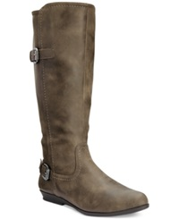 White Mountain Finalist Wide Calf Tall Boots Women's Shoes Stone