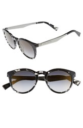 Marc Jacobs Women's 47Mm Keyhole Sunglasses Havana Crystal