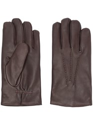 Orciani Classic Gloves Brown