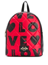 Love Moschino Logo Print Quilted Backpack 60