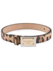 Dolce And Gabbana Leopard Print Bet Nude And Neutrals