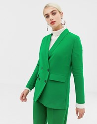 Selected Jolly Double Breasted Co Ord Blazer Green