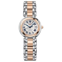 Longines L81115786 Women's Prima Luna Automatic Date Two Tone Bracelet Strap Watch Silver Rose Gold