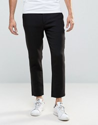 Weekday Arvid Heavy Jersey Trousers 09 090 Black