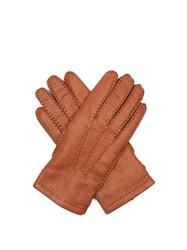 Dents Badminton Leather Gloves Brown