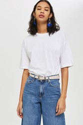 Topshop Blush Skinny Western Belt Blush