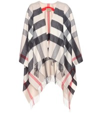Burberry Cashmere And Merino Wool Cape Beige
