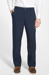 Men's Tommy Bahama 'New Linen On The Beach' Easy Fit Pants Blue Note