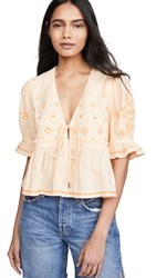Free People Tallulah Embroidered Top Belle Of Georgia