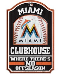 Wincraft Miami Marlins Wood Sign